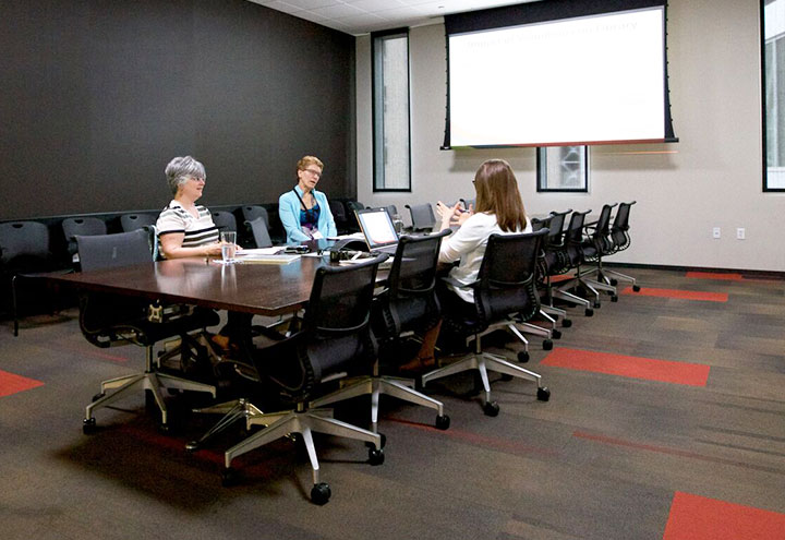 Library is Central Public Hub for Business Meetings, Training and Online Access